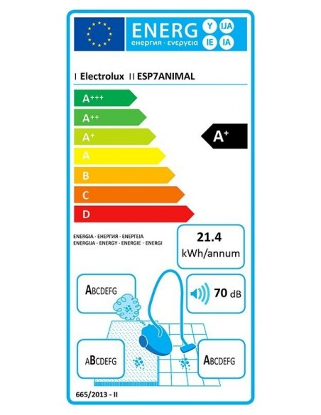 Electrolux SilentPerformer ESP7ANIMAL - consommation