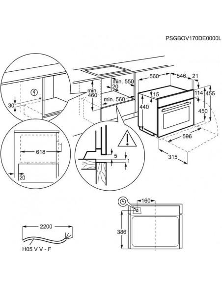 Electrolux EB4GL70CN inox - dimensions