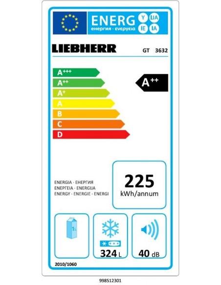 Congélateur coffre Liebherr GT 3632 Comfort - consommation