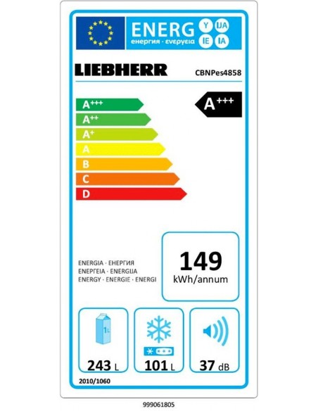 Liebherr CBNPes 4858 - consommation