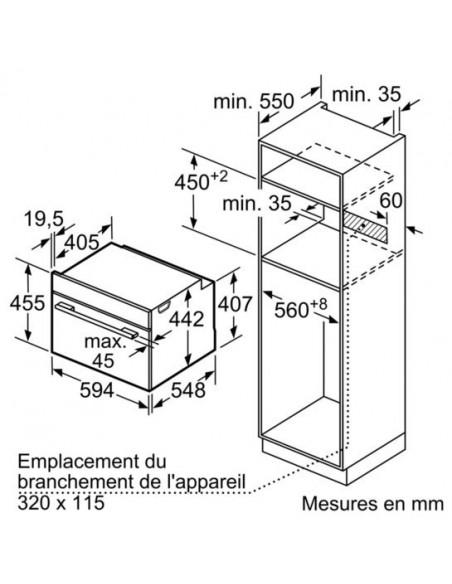 Siemens CS656GBS2 iQ700 - dimensions