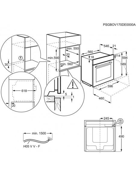 Electrolux EB6L40CN Inox - dimensions