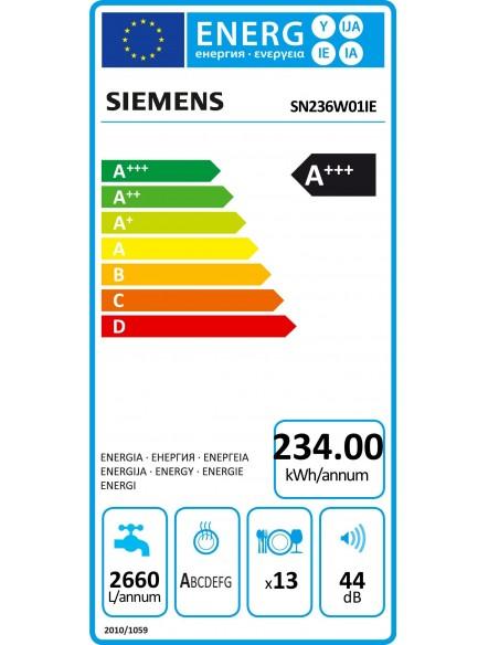 Siemens SN236W01IE - consommation