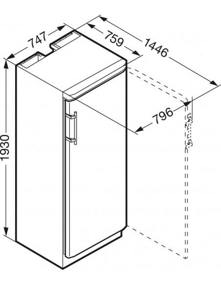 Liebherr WKt 6451 - dimensions