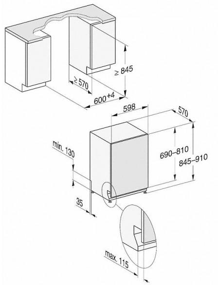 Miele G 27965-60 SCVi XXL AutoDos - dimensions