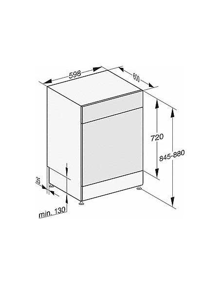 Miele G 17310-60 SC AutoDos blanc - dimensions