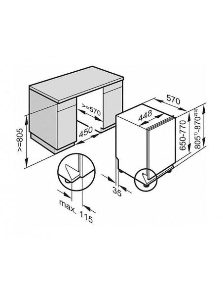 Miele G 14782-45 SCVi - dimensions