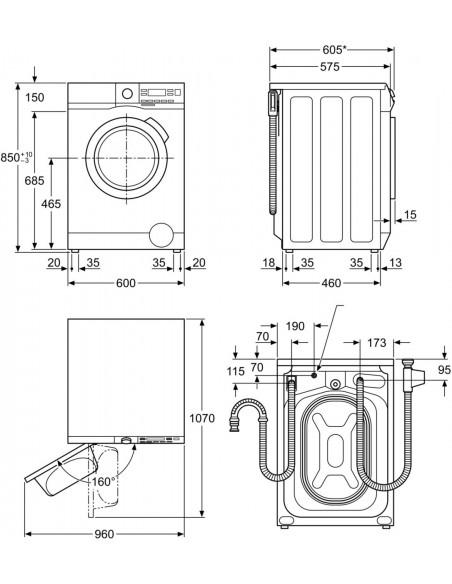 AEG Regina LR3650 - dimensions